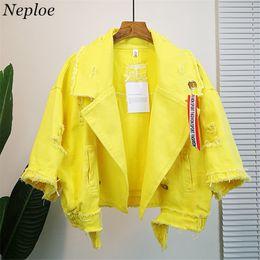 Discount girls jacket rivets - Neploe Pockets Women Denim Jacket Pole Female Loose Coat 2018 Autumn Winter New Cool Girl Outwear 69201