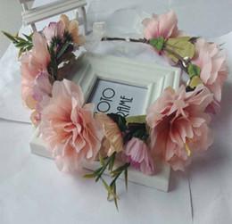 $enCountryForm.capitalKeyWord Australia - Girls princess flowers crown bohemia style bridesmaid simulation garden wedding wreath children pageant garlands hair accessories F0576