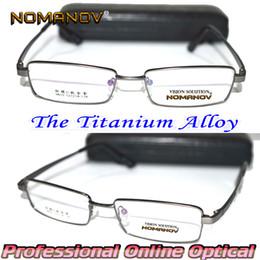 f40bd370855 NOMANOV BRAND   Titanium Alloy Gray Full-Rim Eye Frame Custom Made Optical  Prescription Myopia Reading Glasses Photochromic