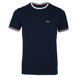 1de46278a 2018 marca francesa nueva moda de verano corto hombres camiseta de la marca  ropa de algodón cómodo camiseta masculina camiseta de los hombres ropa