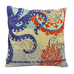 China Botique Linen Cotton Blended Throw Pillow Case (Octopus Pattern) cheap octopus cases suppliers