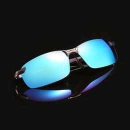 Polarized Metal Sunglasses NZ - 2018 New Men Polarized Sunglasses Driving Outdoor Sports Rimless Metal Polarized bicycle Sunglasses Male Goggle Oculos de sol