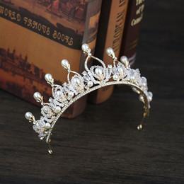 $enCountryForm.capitalKeyWord NZ - Bride Headwear with Big Pearl Bride Crown Fashion elegance Wedding Dinner Headwear Bride Accessories manufacturer Direct Sale