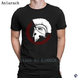 White Shirts Styles Designs For Men Australia - Spartan t-shirts quirky Design Tee top Unique t shirt for men Short Sleeve Unisex Summer Style Anlarach nice