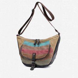 $enCountryForm.capitalKeyWord UK - New Multi Functional Messenger Shoulder Bag Casual Canvas Versatile Color Collision Women Female Hand Bags Crossbody Handbags