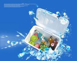 Picnic Ice Packs Australia - Portable Folding Picnic Ice Basket Mini Car Fridge Drink Food Cooler Warmer Box Fruit Fresh-keeping Insulation Bags Ice Pack 8L