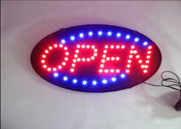 Neon Light Switch Australia - LED Open Sign Advertising Light Shopping Mall Bright Animated Motion Running Neon Business Store Shop+Switch US EU plug