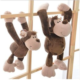 Discount toy monkey long arms - New Arrival Cute Long Arm Monkey Plush Toy Stuffed Animal Monkey Cartoon Plush Doll Gifts For Children