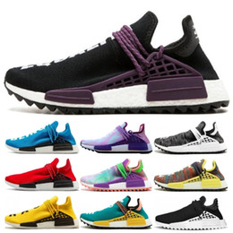 Sun body online shopping - With Box Mens Running shoes Human Race X HU Pharell Williams Black White Sun Glow Equality breathable women Sneakers Trainer