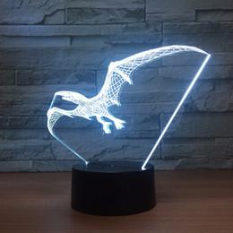 $enCountryForm.capitalKeyWord Canada - Pterosaurs 3D Optical Illusion Lamp Night Light DC 5V USB Powered AA Battery Wholesale Dropshipping Free Shippin