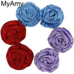 18ac637c23 45pcs lot DIY 100% Handmade Beauty Rose Puff Flowers for headband ,baby  girls Hair Accessories,Hair Flower WITHOUT clip,HH008