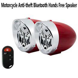 Wholesale 3 inch Waterproof Motorcycle Stereo Speaker Bluetooth Hands free Anti-theft Alarm Amplifier Hi-Fi Sound MP3 Car FM Radio