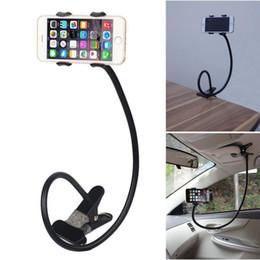 Black White Rose Bedding Australia - New Universal flexible phone holder Arm Lazy Gooseneck Stand Holder Stents Flexible Bed Desk Table Clip Bracket For smart phone