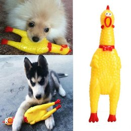 $enCountryForm.capitalKeyWord NZ - Funny Rubber Yellow Screaming Chicken Pet Squeaky Chew Toy Pet Supplies Cheap Pet Dog Chew Toy Factory Price