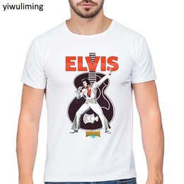cf6f0c9fb47d Casual Summer T-Shirt ELVIS Presley Men T Shirt King Of Rock Coloful Letter  Print Short Sleeves Levi S Brand Tee Tops