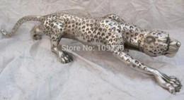 $enCountryForm.capitalKeyWord NZ - 26 inch Chinese pure bronze silver plating carvings fierce leopard figurine