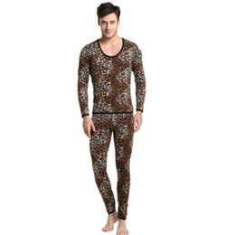03131d56f6f2 Sexy Onesies For Men UK - Men Leopard Long Johns set Winter Mens Thermal  Pants Cotton