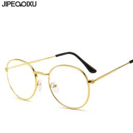 f6f52e9f77 Round Computer Glasses Frame Men Luxury Brand Fake Optical Eyeglasses Women  Retro Clear Lens Myopia Spectacles Frames