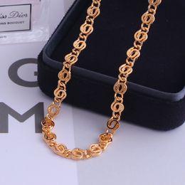 $enCountryForm.capitalKeyWord Australia - Fansheng Necklaces for Women Men Venetian Rose Gold Curb Link Chains Necklace Fashion Jewelry 60CM