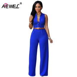 $enCountryForm.capitalKeyWord Canada - ADEWEL 2018 Summer Belt Waist Casual Long Women Rompers Stand Collar Elegant Jumpsuit Overalls Sexy Bodysuit Plus Size S-XXL
