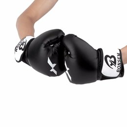 Gear Design NZ - Bonsem PU Leather Training Gloves New Style Boxing Gloves 2 Colors Optional Comfortable Design Training Glove Protective Gear
