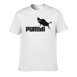 Funny purple costumes online shopping - 2016 funny tee cute t shirts homme Pumba men short sleeves cotton tops cool tshirt summer jersey costume t shirt