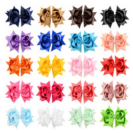Hair Kids Wholesale NZ - 2017 New Hot 20pcs lot Boutique Kids Flower Headwear High Quality Bow Hair Clips Hair Accessories 722