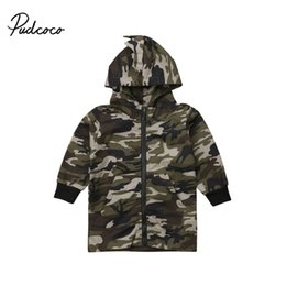 Baby Camouflage Jackets Australia - Toddler Kids Baby Boy Coat Camouflage Dinosaur Long Sleeve Zipper Hooded Coats Tops Late Autumn Outwear Fashion Warm Outfits