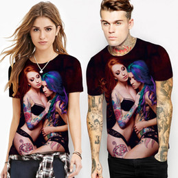 $enCountryForm.capitalKeyWord NZ - Men 3D T-shirt Summer Clothing Tees Sexy Girls Printed Design Tee Short Sleeved Top