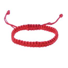3aef486b17d92 Tibetan Buddhist Red String Bracelet For Men And Men Adjustable Lucky Rope  Handmade Stretch Knots