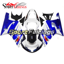 k1 cover NZ - Blue White Motorcycle Complete Fairings For Suzuki GSXR600 GSXR750 2000 2001 2002 2003 K1 Body Kit ABS Plastics Injection Covers Free Gifts