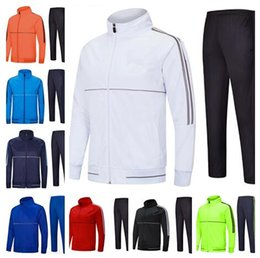 Man black grey suits designs online shopping - 2018 Soccer tracksuit Sport Wear Training Suit Blank jacket Without logo customize designs Blank Outdoor Jacket