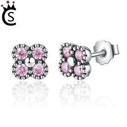 Beautiful luxury girls online shopping - Hot Authentic sterling silver zircon Beautiful earrings Butterfly knot silvery Fashion earrings Young girls Luxury earrings