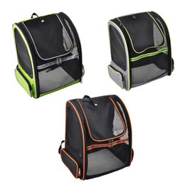 Bags Carry Puppies Australia - THINKTHENDO Pet Carrier Breathable Mesh Carry Cat Dog Puppy Shoulder Backpack Travel Portable Bag