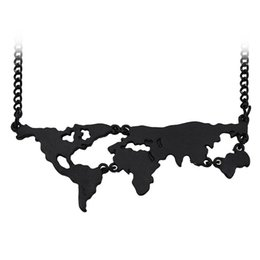 Green Maps UK - 3colors Hot Sale New World Map Pendant Necklace Personality Jewelry Lovers Creative Geography Special Gift