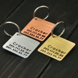 Stamping dog tagS wholeSale online shopping - Personalized Pet ID Tag Metal Dog Tag Hand Stamped ID Custom Name And Phone Numbers