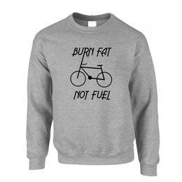 $enCountryForm.capitalKeyWord UK - Burn Fat Not Fuel Cycling Save The Environment Printed Slogan Jumper Sweater
