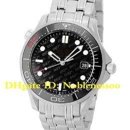watches james bond Canada - Luxury High Quality Watch Men's Black Dial Co-Axial 300M James Bond 50th Anniversary Stainless Steel 41MM Mens Automatic Mens Watch Watches