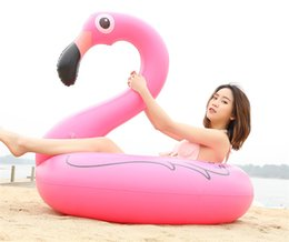 Inflatable Flamingo Pool Float Toys 90cm Kids Swimming Ring Circle Party Decoration Beach Water Party toy TO636 on Sale