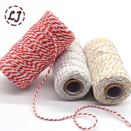 $enCountryForm.capitalKeyWord NZ - wholesale 100meters roll 2ply Bakers Twine String Cotton Cords Rope for home handmade Christmas gift packing Craft Projects DIY