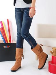 $enCountryForm.capitalKeyWord NZ - 2018 new fashion big yard Women's shoes Knot Tassel Half Boots Bind Martin Boots