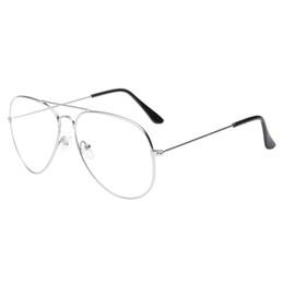 Vente en gros Lunettes de soleil hommes femmes 2018 hommes femmes lentille claire lunettes cadre en métal Spectacle Myopia lunettes Lunette