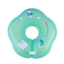 Discount swimming balloons - Large Buoyancy Baby Swim Inflatable Ring Collar Newborn Baby Swim Ring Double Balloon BB55
