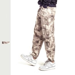 pant camouflage military free shipping 2020 - European and American fashion sports trousers military pants multi-pocket camouflage tooling casual pants male free ship