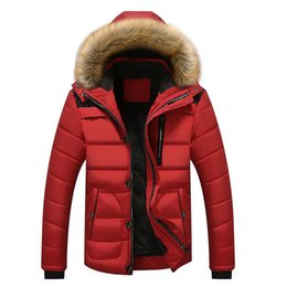 Chinese  18Winter men's cotton raccoon dog hair collar cap casual cotton padded men's jacket mens winter jackets and coats Wool manufacturers