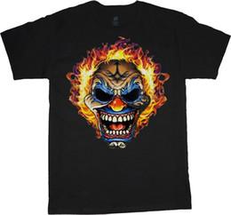 Tall Tee Men Canada - Big man shirt evil clown skull tee mens plus size big and tall 5X 6X 7X 10X