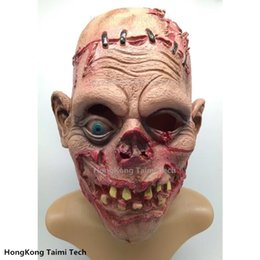 Discount zombie masks - New Rot Scary Mask Festering Nausea Parasite Zombie mask Latex decay Vampire Halloween skull terror masks horror