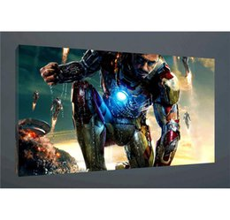 oil art nude man UK - Iron Man,1 Pieces Home Decor HD Printed Modern Art Painting on Canvas (Unframed Framed)