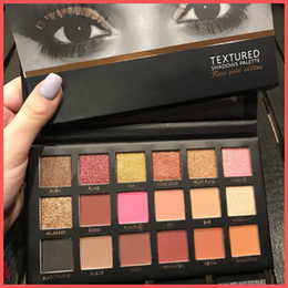 Envío gratis por ePacket 18 colores paleta de sombras de ojos rosa de oro con textura paleta de maquillaje sombra de ojos paleta de belleza mate brillo con regalos