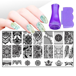 make stamps NZ - 30 Styles Floral Stamping Nail Art Plates Set Made Stencils Lace Flower DIY Nail Art Templates Stamper Stamp Scraper